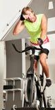 Spinning bike tired sweating Royalty Free Stock Photo