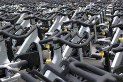 Spinning bikes Stock Image
