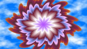 Spinning bloom, widescreen. Widescreen bright colorful attractive fractal kaleidoscope Royalty Free Stock Photography