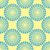 Spinning Blue Rings Optical Illusion Seamless Pattern Royalty Free Stock Image