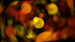 Spinning blur Warm Round Shapes. kaleidoscope Bokeh backgrounds stock video footage