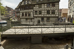 Spinning bridge in Strasbourg Stock Image
