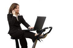 Spinning business woman Stock Images