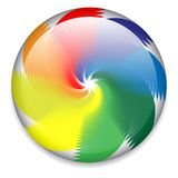 Spinning button. Colorful candy, spinning web button, logo Stock Images