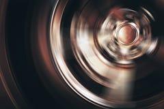 Spinning Car Wheel Stock Photo