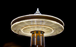 Spinning carousel at night Royalty Free Stock Photography