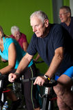 Spinning class Stock Photos