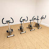 Spinning class corner Stock Photos