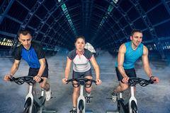 Spinning class Royalty Free Stock Photo