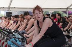 Spinning class Stock Photography