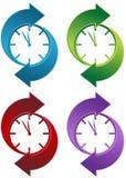 Spinning Clock Stock Photo
