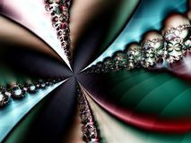 Spinning Colorful Fractal Abstract. Background Wallpaper Royalty Free Stock Image