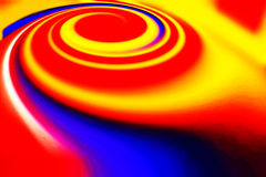 Spinning colorful spiral Stock Images