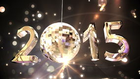 2015 with spinning disco ball