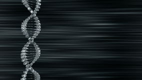 SPINNING DNA BACKGROUND LOOP SILVER TINT stock footage