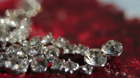 Spinning earrings and bracelet stock video footage