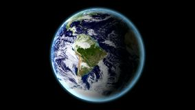 Spinning Earth - Earth Texture By NASA.gov Stock Photography