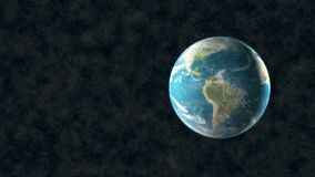 Spinning earth in space dust. Video of spinning earth in space dust stock video