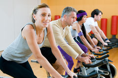 Spinning excercise Royalty Free Stock Photos