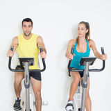 Spinning exercise Stock Photography