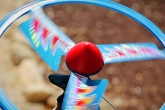 Spinning fast propeller disc toy Stock Image