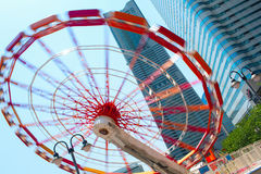 Spinning Ferris wheel (Big Wheel). Yokohama City, Japan Stock Images