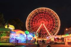 Spinning Ferris wheel Royalty Free Stock Photo