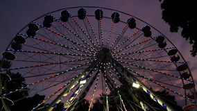 Spinning Ferris Wheel stock video