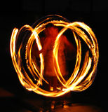 Spinning Fire Stock Photography