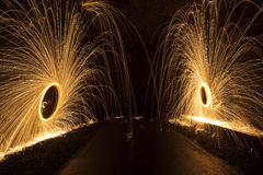 Spinning firework Stock Image
