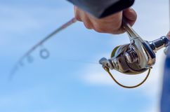 Spinning fishing royalty free stock photo