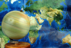 Spinning globe Royalty Free Stock Photography