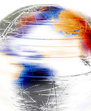 Spinning globe royalty free illustration