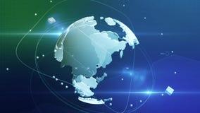 Spinning globe background Stock Images
