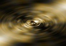 Spinning gold speaker Stock Images