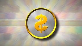 Spinning golden coin stock footage