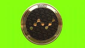 Spinning golden NANO NANO stock video
