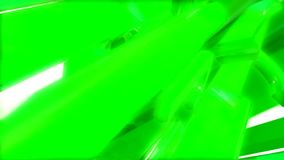 Spinning green abstract shape stock video footage
