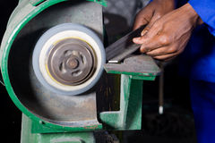 Spinning grinding machine Royalty Free Stock Photography