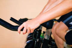 Spinning in the gym Stock Photos