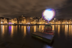 Spinning heart, Amsterdam lights festival 2014 Stock Photography