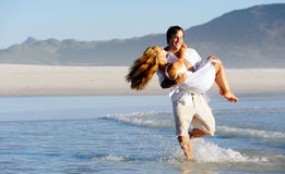 Spinning honeymoon couple Royalty Free Stock Photo