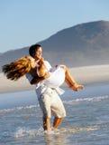 Spinning honeymoon couple Royalty Free Stock Photos