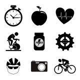 Spinning icons Royalty Free Stock Image