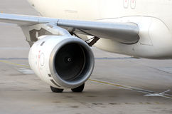 Spinning Jet Engine. Of a airplane Royalty Free Stock Photography