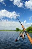 Spinning and lake Royalty Free Stock Image