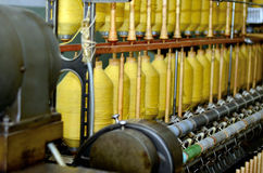Spinning machines. In Rydal's oldest surviving mill. The museum demonstration fragile spinning machines and tells of the factory's history. Permanent exhibition Royalty Free Stock Image