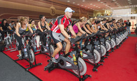 Spinning marathon challenge Royalty Free Stock Photography