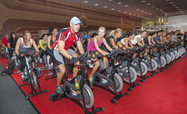 Spinning marathon challenge Royalty Free Stock Images