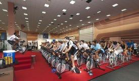 Spinning marathon challenge Stock Image